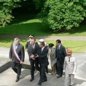 Arrivée du Secrétaire d'Etat, J.M. Bockel