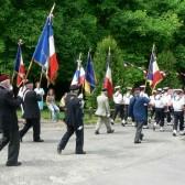 Le cortège avec les porte-drapeaux