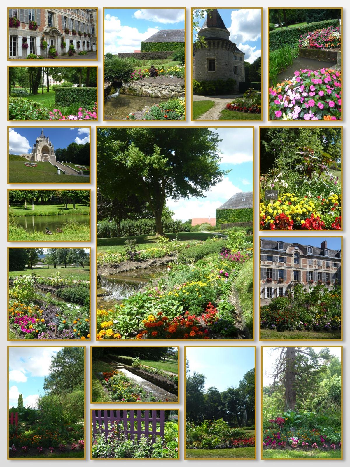 Fleurissement du parc du château de Dormans