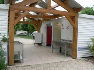 le bloc sanitaire du camping
