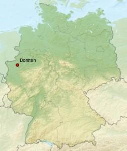 localisation de Dorsten sur une carte d'allemagne
