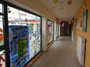 Crèche de Dormans : L'accueil décoré selon les thèmes de l'année en cours
