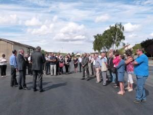 de nombreux élus étaient présents à l'inauguration de l'extension du parking de la gare SNCF de Dormans
