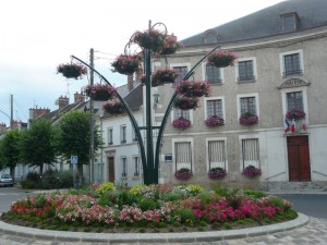 Fleurissement de Dormans, été 2014, mairie