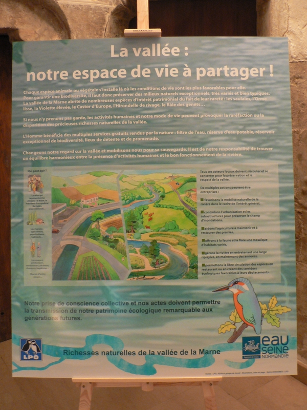 Affiche « richesses naturelles de la vallée de la Marne » juin 2010