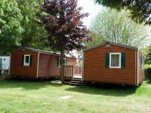 au camping les mobil-home avec terrasse