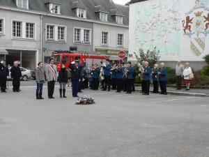 la musique municipale de Dormans aux cérémonies du 11 novembre