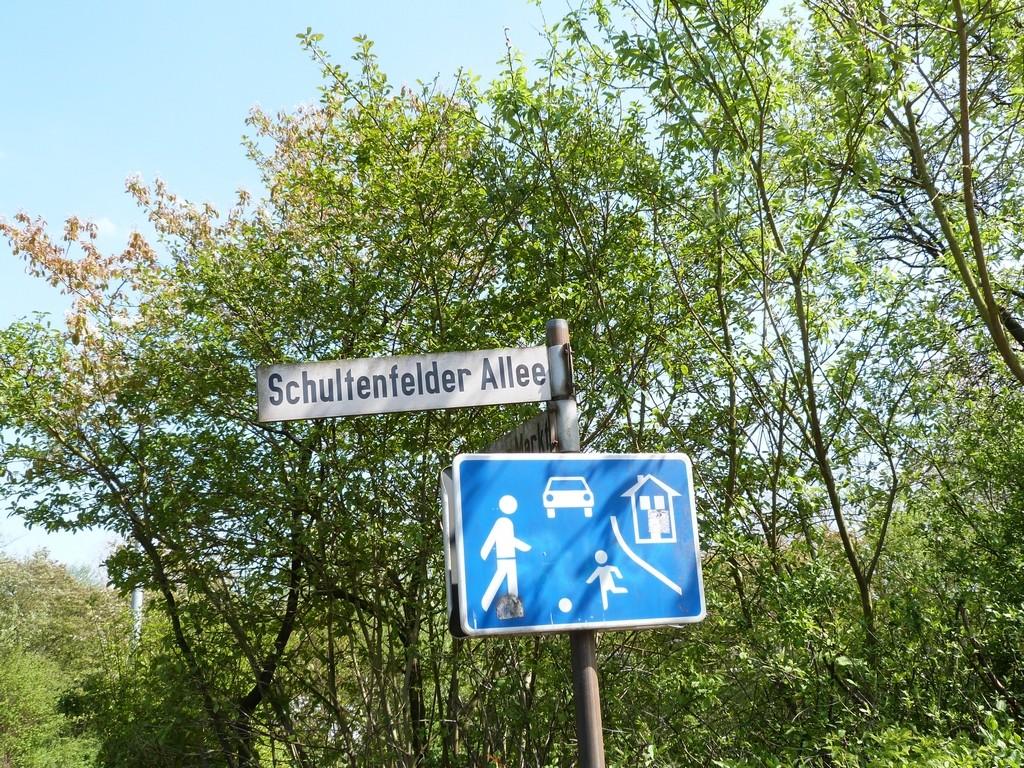 Panneau piétons à Wulfen-Barkenberg, Dorsten
