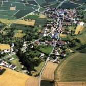 Vue aérienne de Chavenay, hameau de Dormans