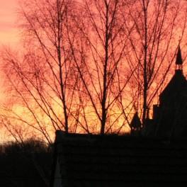 Dormans lever de soleil sur le Mémorial