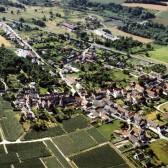 Vue aérienne de Soilly, hameau de Dormans