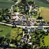 Vue aérienne de Try, hameau de Dormans