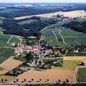 Vue aérienne de Vassieux, hameau de Dormans