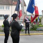 Lecture du texte de commémoration par le Maire de Dormans, Christian Bruyen