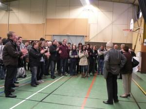 Accueil délégation allemande au gymnase de Dormans
