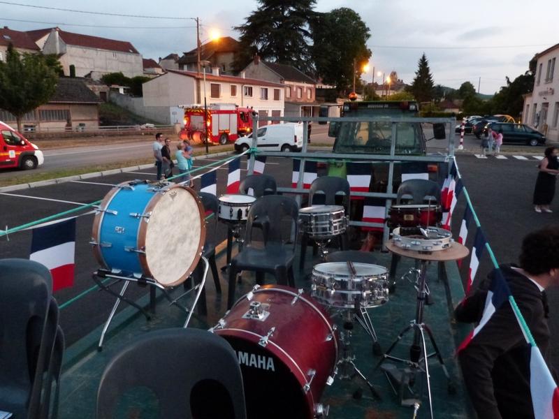 Le chariot pour la musique est prêt