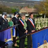 11 novembre 2014 - la sonnerie aux morts au cimetière militaire