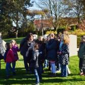 11 novembre 2014 - les enfants venaient de fleurir les tombes des deux cimetières
