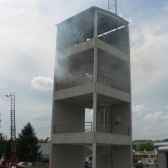 Centre de Secours de Dormans, journée porte ouverte du 12 juin 2010, démonstration : un feu avec évacuation en hauteur