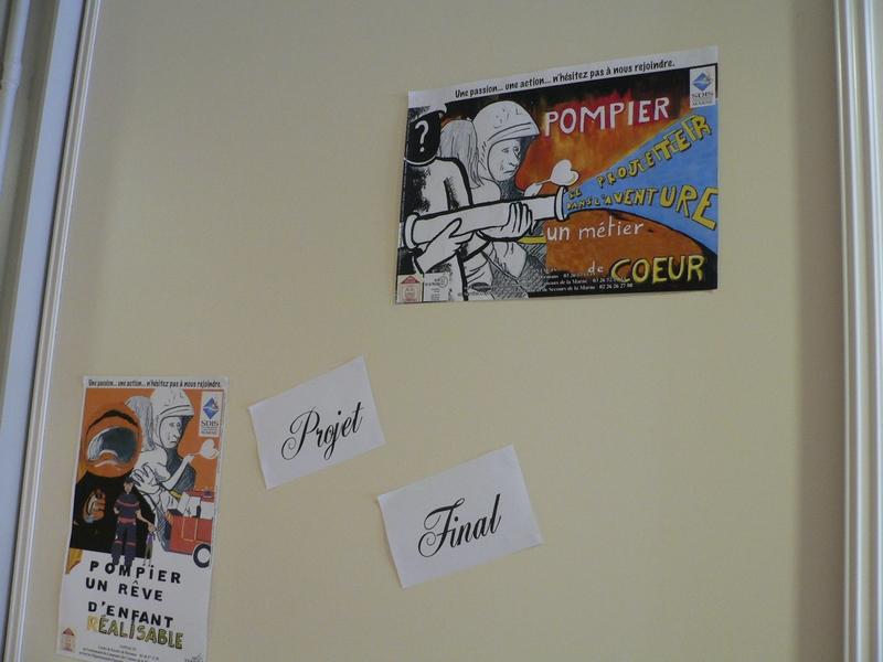 Les deux affiches réalisées