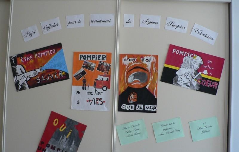 Les affiches des collégiens sélectionnées par les pompiers
