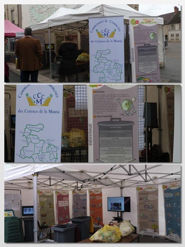 La Communauté de Commune des Coteaux de la Marne avait un stand dédié à la récupération des déchets à la foire de Dormans