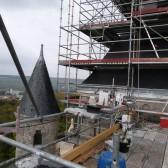 Le chantier de couverture du mémorial de Dormans est sur plusieurs niveaux