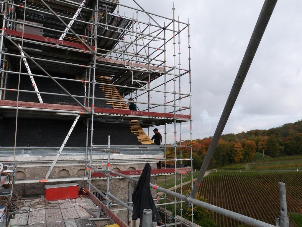 Le chantier de couverture du mémorial de Dormans