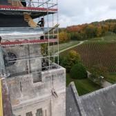 Le chantier de couverture des travaux du mémorial de Dormans