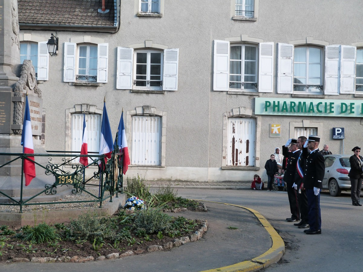 Dépôt de gerbe monument aux morts de Dormans 11 novembre 2015