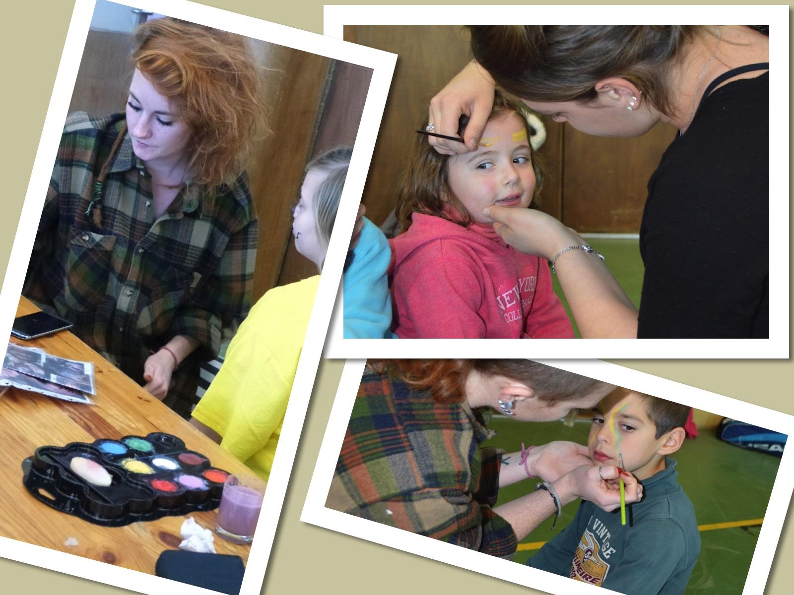 Maquillage lors du Téléthon 2015 de Dormans