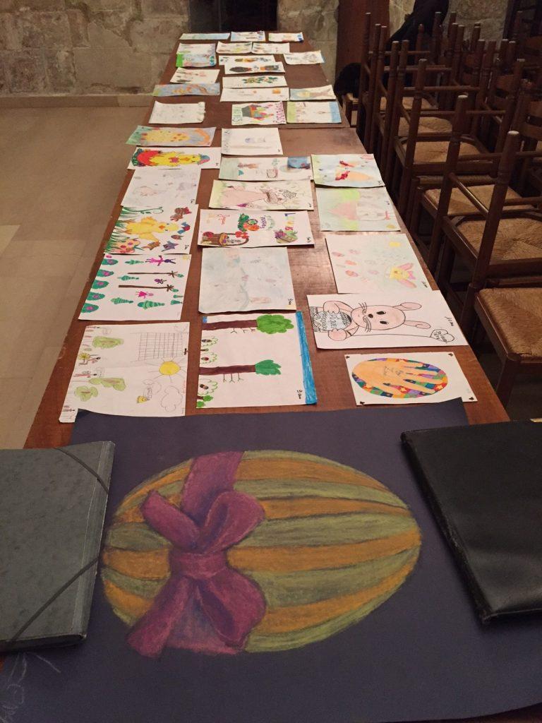 Un dessin hors catégorie lors de la sélection pour l'animation de Pâques au marché de Dormans