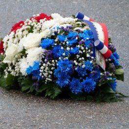 Le coussin de fleurs aux couleurs de la République 11 novembre 2016
