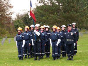 Les pompiers et les JSP au cimetière militaire Dormans 11 novembre 2016