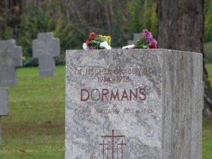 Le côté allemand au cimetière militaire Dormans 11 novembre 2016