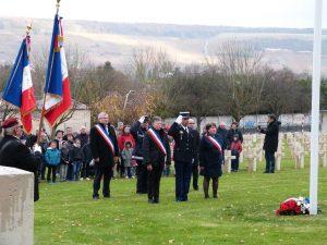 Après le dépôt de gerbe au cimetière militaire Dormans 11 novembre 2016