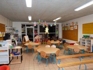 une salle de classe de l'école des Erables à Dormans