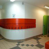 Le couloir réaménagé dans l'école des Erables à Dormans