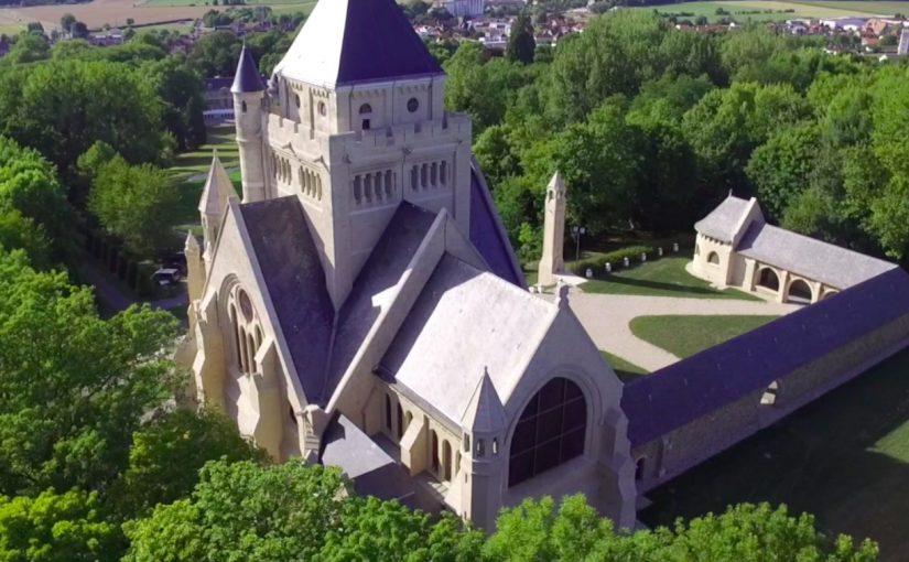 Le Mémorial de Dormans vu par un drone