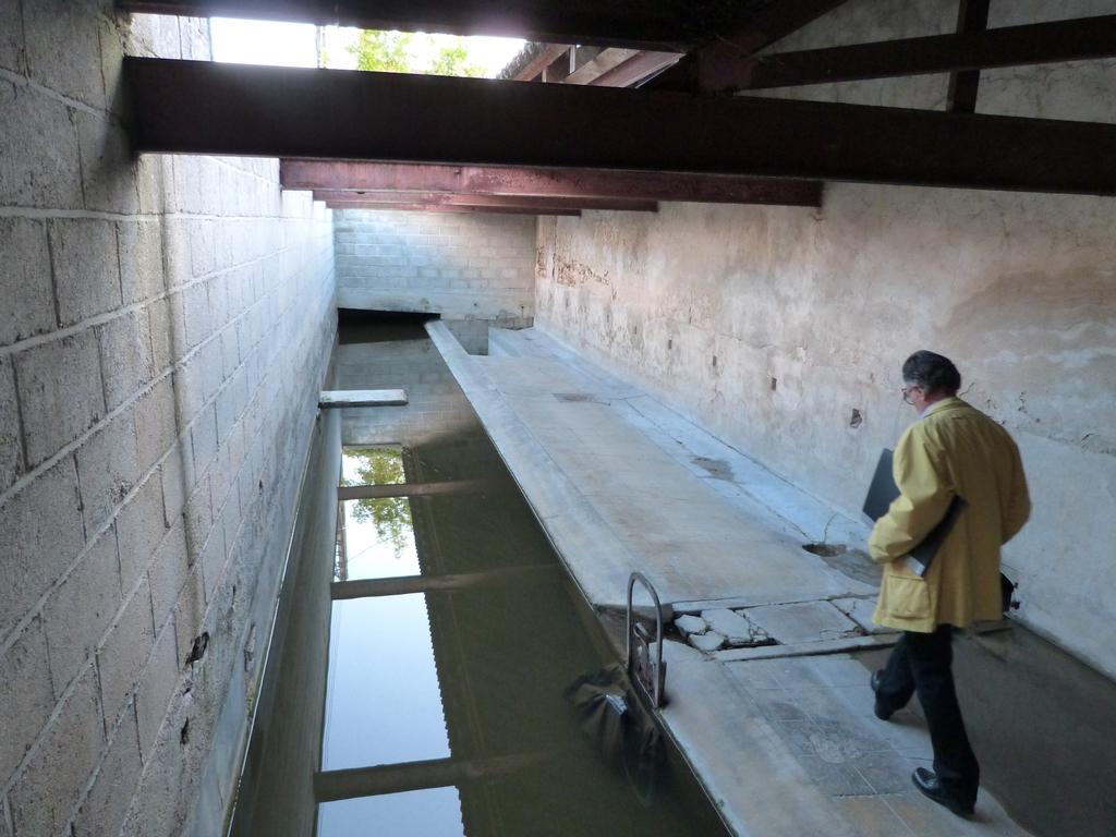 Fin du parcours : le plus ancien lavoir existant., lors des Journées Européennes du patrimoine à Dormans