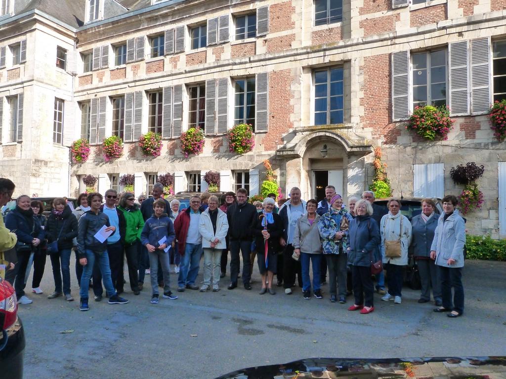 groupe du samedi lors des Journées Européennes du patrimoine à Dormans