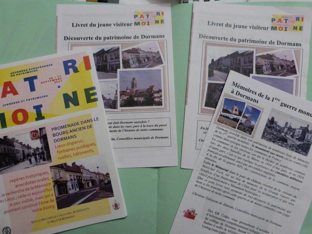 les livrets des Journées Européennes du Patrimoine à Dormans