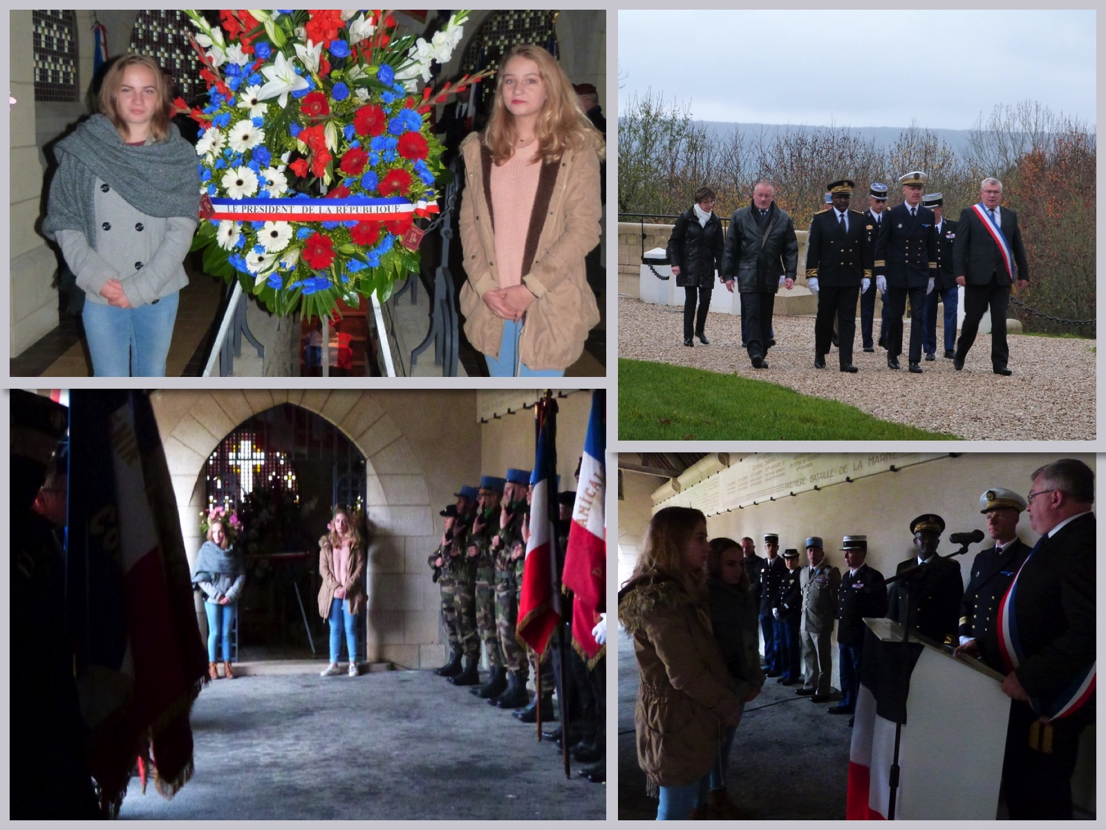 cérémonie au mémorial de Dormans 11 novembre 2017