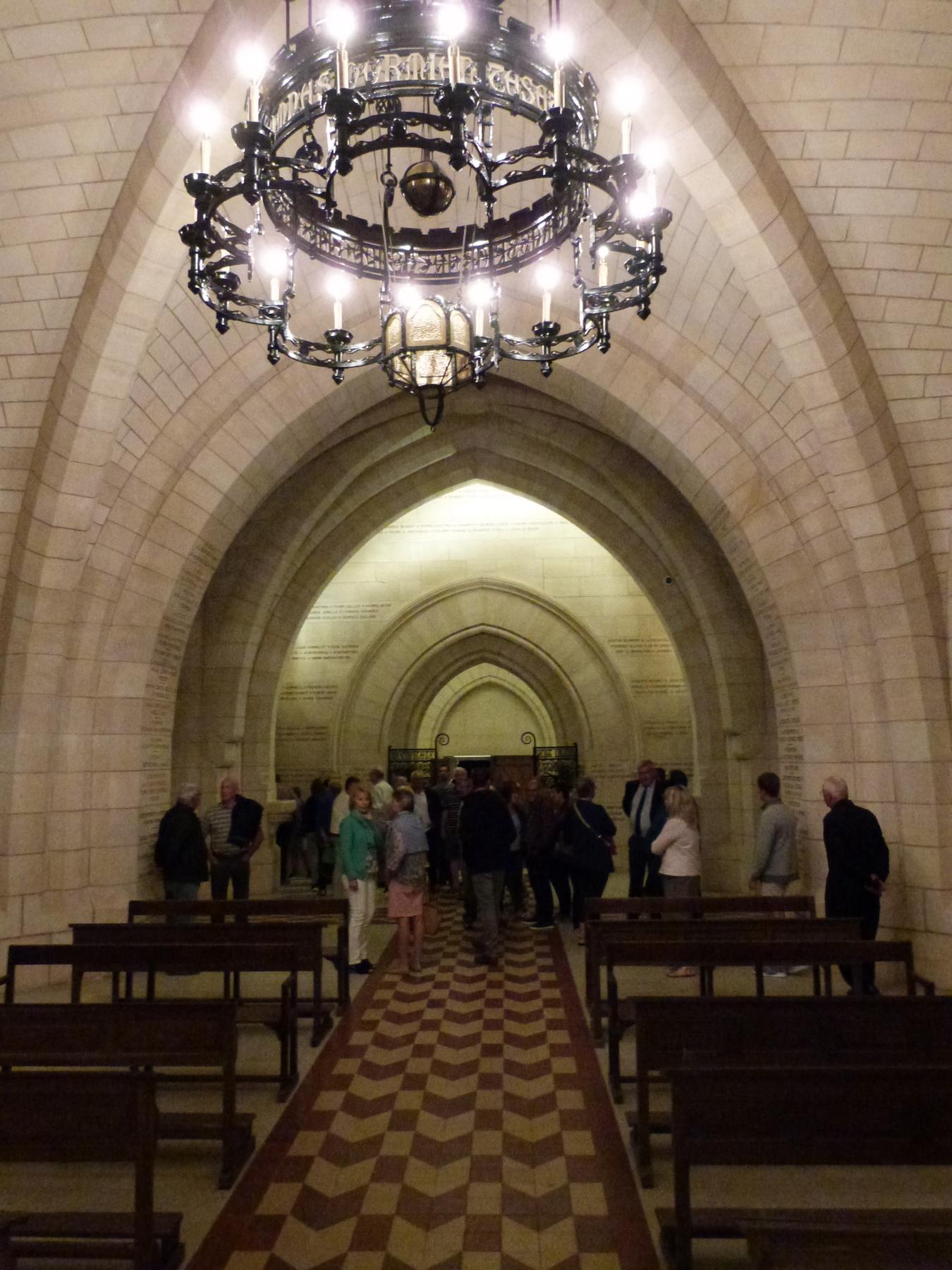 La crypte du Mémorial de Dormans avec son nouvel éclairage
