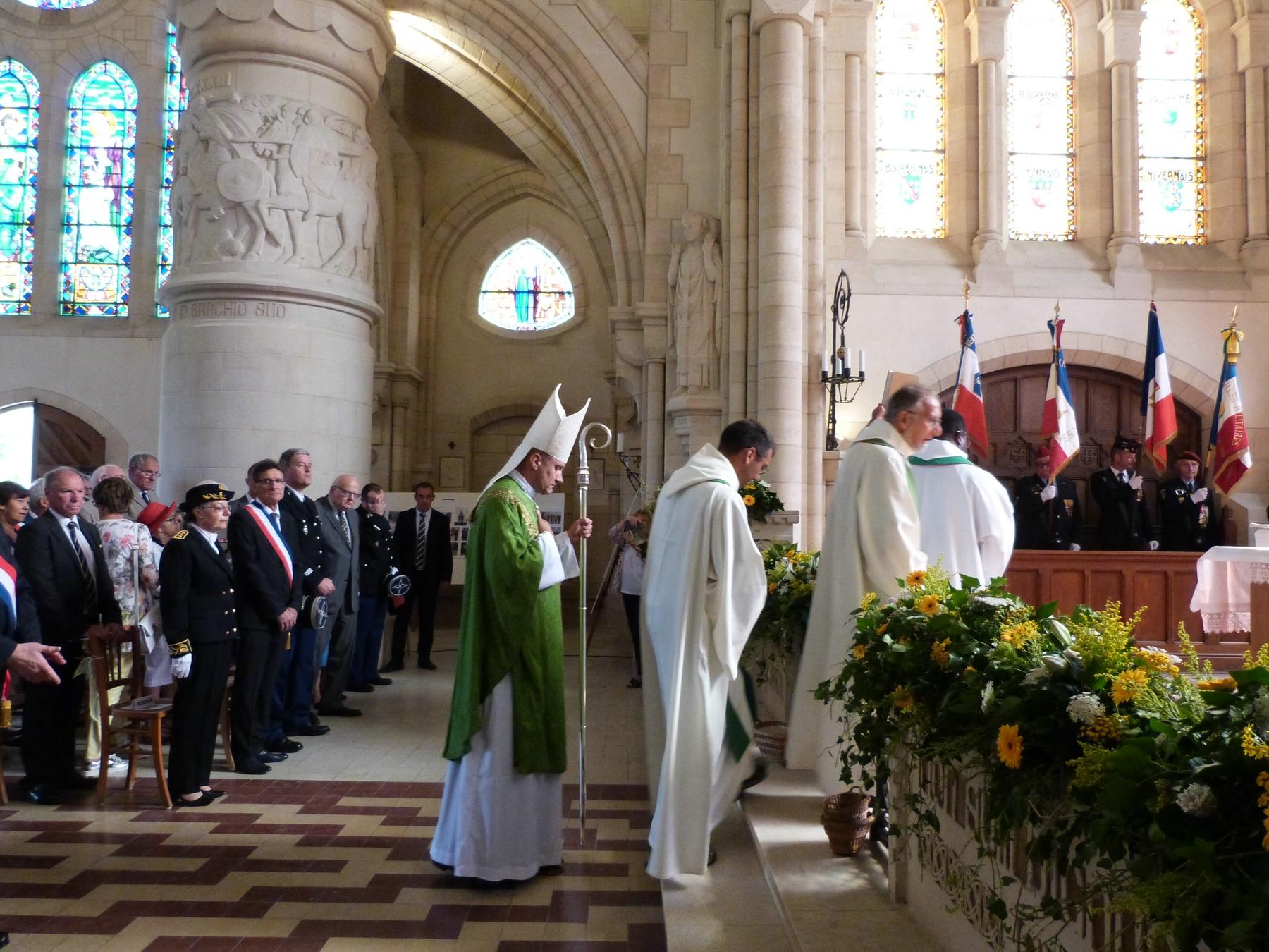 Monseigneur Touvet évêque de Châlons : 8 juillet 2018 Mémorial de Dormans