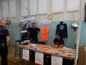 Le forum des associations 2018 à Dormans stand des pompiers