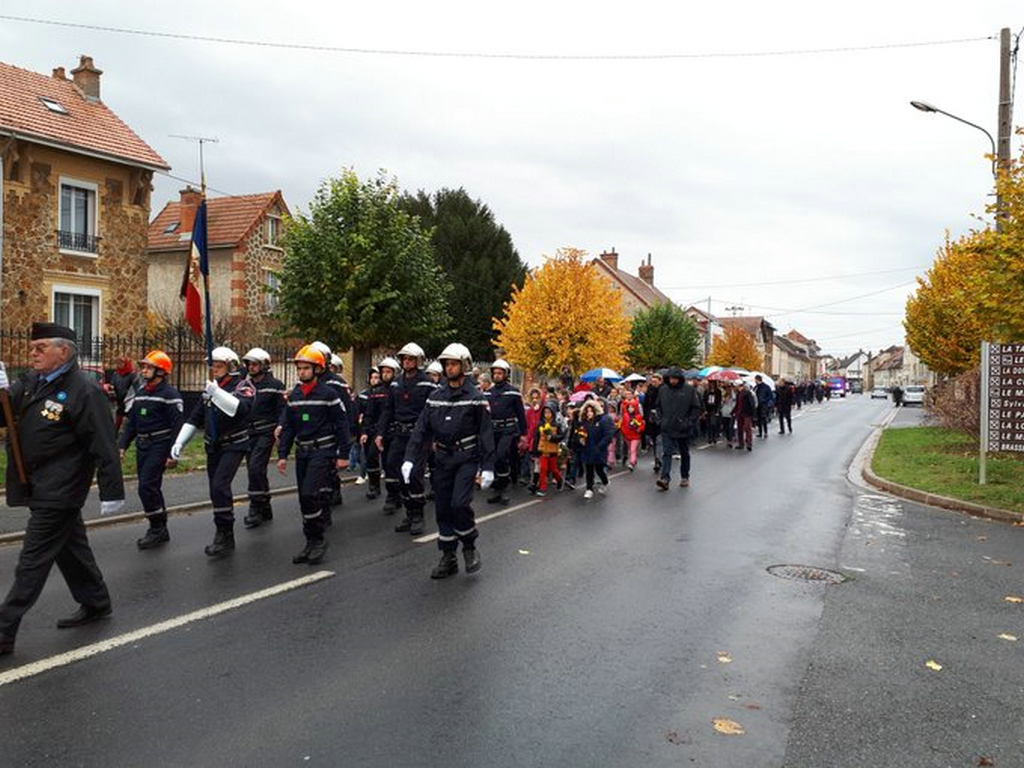 défilé à Dormans 11 novembre 2018