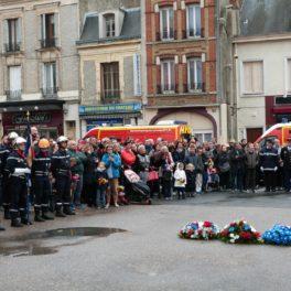 cérémonie au monument aux morts de Dormans 11 nov 2018
