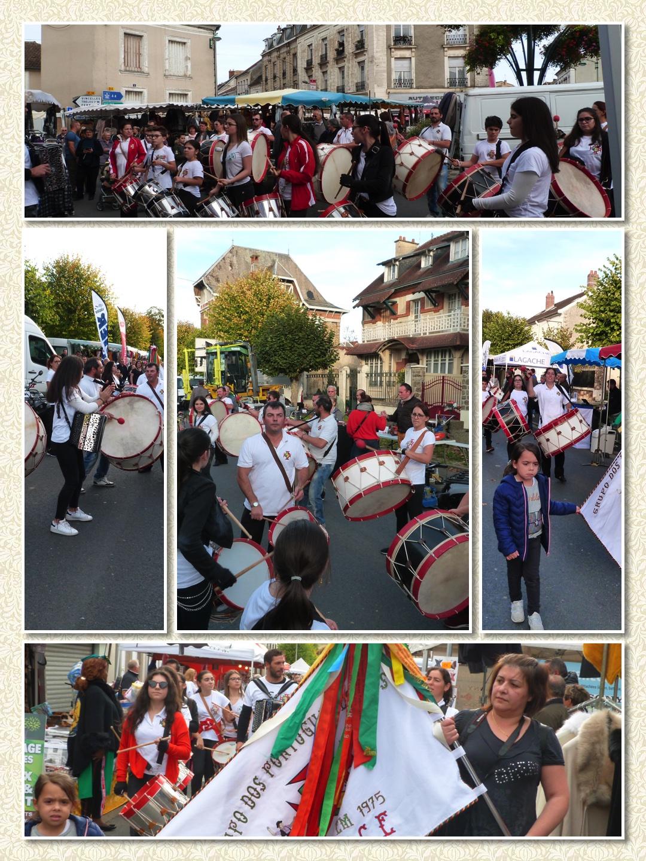 Différents moments de la prestation du Groupe Portugais de Reims lors de le foire 2019 de Dormans