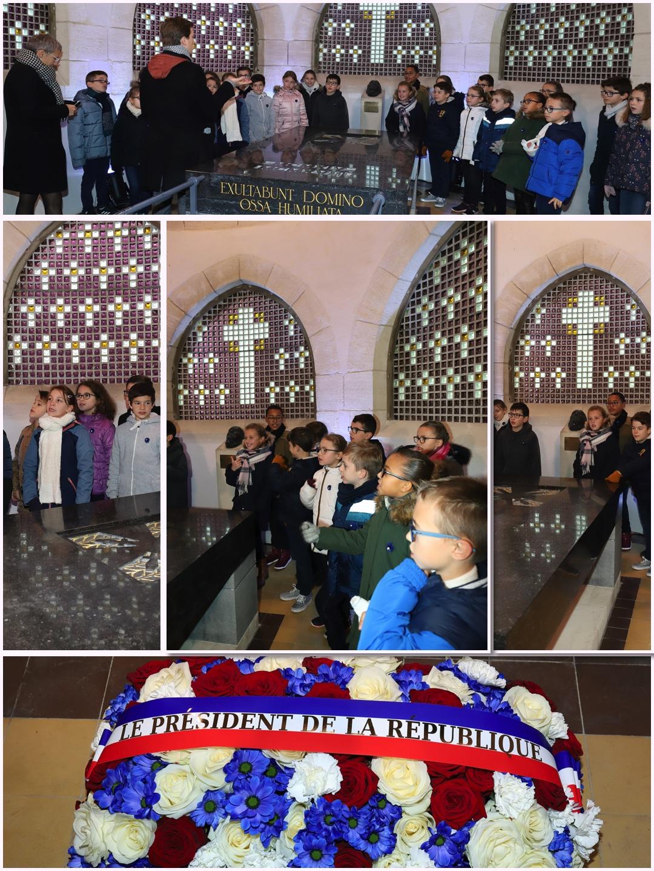 Les écoliers de DLes écoliers de Dormans avant l'arrivée du Président